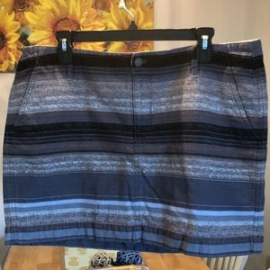 Old Navy striped mini skirt size 14